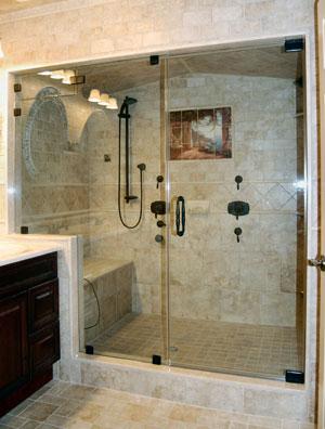 Frameless steam shower, done in Clinton area, NJ