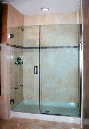 Standard 5ft frameless shower enclosure