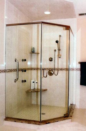 Angled Showers   AgurGlass com